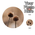 Withered Globe Thistle In Autumn Macro Playing Cards 54 (Round)  Back