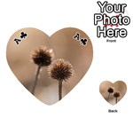 Withered Globe Thistle In Autumn Macro Playing Cards 54 (Heart)  Front - ClubA