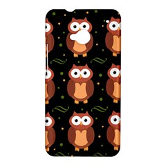 Halloween brown owls  HTC One M7 Hardshell Case