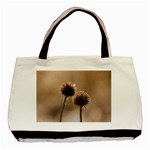 Withered Globe Thistle In Autumn Macro Basic Tote Bag (Two Sides) Back