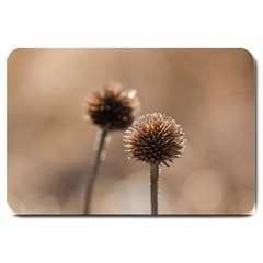 Withered Globe Thistle In Autumn Macro Large Doormat