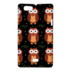 Halloween brown owls  Sony Xperia Miro