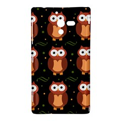 Halloween brown owls  Sony Xperia ZL (L35H)