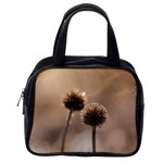 Withered Globe Thistle In Autumn Macro Classic Handbags (One Side) Front