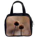 Withered Globe Thistle In Autumn Macro Classic Handbags (2 Sides) Front