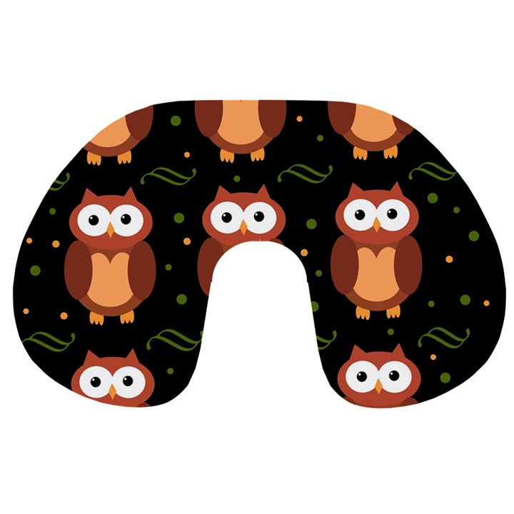 Halloween brown owls  Travel Neck Pillows
