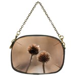 Withered Globe Thistle In Autumn Macro Chain Purses (Two Sides)  Front