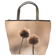 Withered Globe Thistle In Autumn Macro Bucket Bags