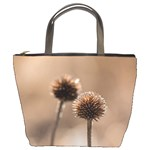 Withered Globe Thistle In Autumn Macro Bucket Bags Front