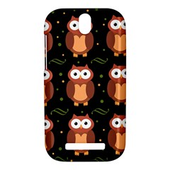 Halloween brown owls  HTC One SV Hardshell Case