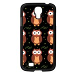 Halloween brown owls  Samsung Galaxy S4 I9500/ I9505 Case (Black) Front