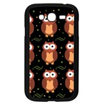 Halloween brown owls  Samsung Galaxy Grand DUOS I9082 Case (Black) Front