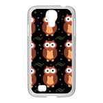 Halloween brown owls  Samsung GALAXY S4 I9500/ I9505 Case (White) Front