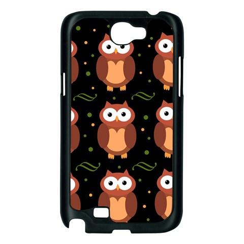 Halloween brown owls  Samsung Galaxy Note 2 Case (Black)