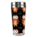 Halloween brown owls  Stainless Steel Travel Tumblers Left
