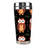 Halloween brown owls  Stainless Steel Travel Tumblers Center