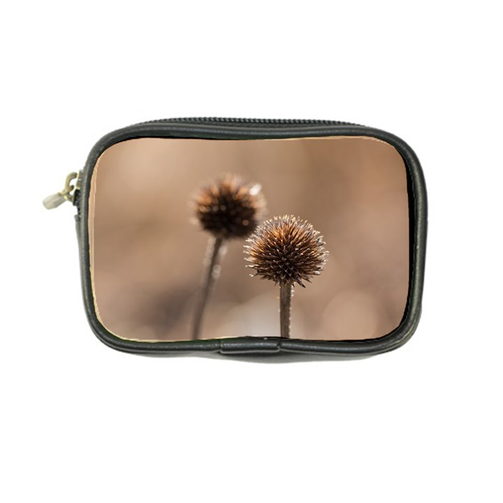 Withered Globe Thistle In Autumn Macro Coin Purse