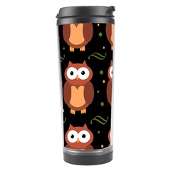 Halloween Brown Owls  Travel Tumbler
