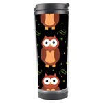 Halloween brown owls  Travel Tumbler Right