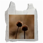 Withered Globe Thistle In Autumn Macro Recycle Bag (Two Side)  Front