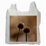 Withered Globe Thistle In Autumn Macro Recycle Bag (Two Side)  Back
