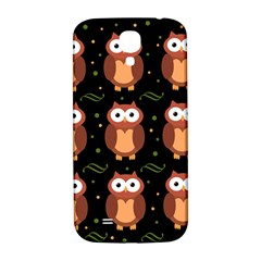Halloween Brown Owls  Samsung Galaxy S4 I9500/i9505  Hardshell Back Case