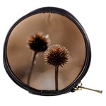 Withered Globe Thistle In Autumn Macro Mini Makeup Bags Front