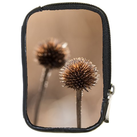 Withered Globe Thistle In Autumn Macro Compact Camera Cases