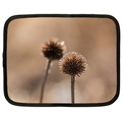 Withered Globe Thistle In Autumn Macro Netbook Case (XL)