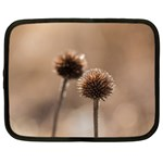 Withered Globe Thistle In Autumn Macro Netbook Case (XL)  Front