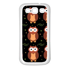 Halloween Brown Owls  Samsung Galaxy S3 Back Case (white)