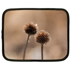 Withered Globe Thistle In Autumn Macro Netbook Case (xxl)