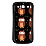 Halloween brown owls  Samsung Galaxy S3 Back Case (Black) Front
