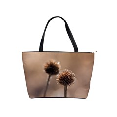 Withered Globe Thistle In Autumn Macro Shoulder Handbags
