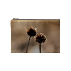 Withered Globe Thistle In Autumn Macro Cosmetic Bag (Medium)