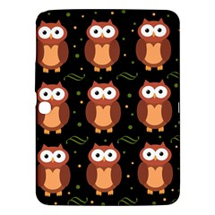 Halloween brown owls  Samsung Galaxy Tab 3 (10.1 ) P5200 Hardshell Case