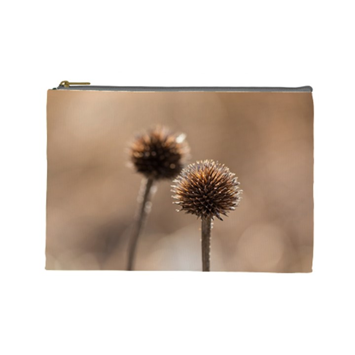 Withered Globe Thistle In Autumn Macro Cosmetic Bag (Large)
