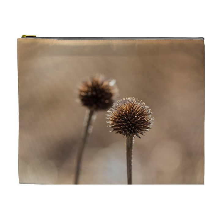 Withered Globe Thistle In Autumn Macro Cosmetic Bag (XL)