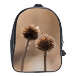 Withered Globe Thistle In Autumn Macro School Bags(Large)  Front