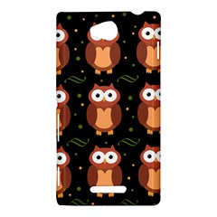 Halloween brown owls  Sony Xperia C (S39H)