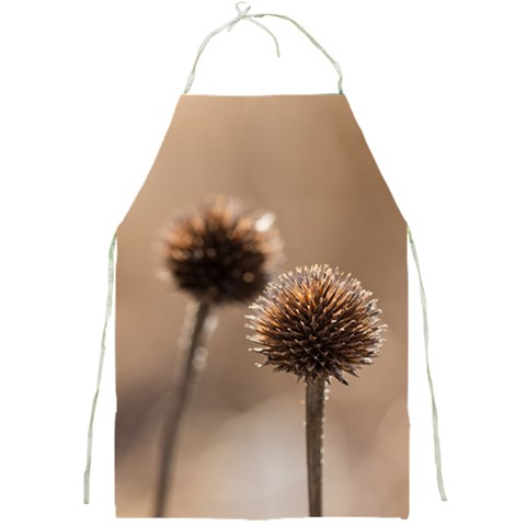 Withered Globe Thistle In Autumn Macro Full Print Aprons