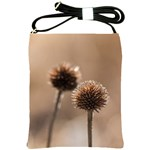 Withered Globe Thistle In Autumn Macro Shoulder Sling Bags Front