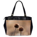 Withered Globe Thistle In Autumn Macro Office Handbags (2 Sides)  Back