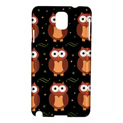 Halloween brown owls  Samsung Galaxy Note 3 N9005 Hardshell Case
