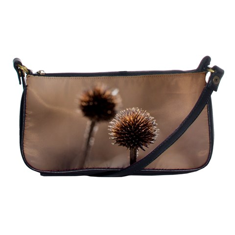 Withered Globe Thistle In Autumn Macro Shoulder Clutch Bags
