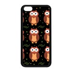 Halloween brown owls  Apple iPhone 5C Seamless Case (Black) Front