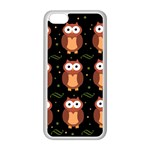Halloween brown owls  Apple iPhone 5C Seamless Case (White) Front