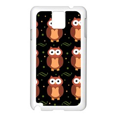 Halloween brown owls  Samsung Galaxy Note 3 N9005 Case (White)