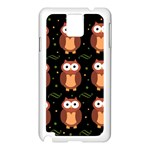 Halloween brown owls  Samsung Galaxy Note 3 N9005 Case (White) Front