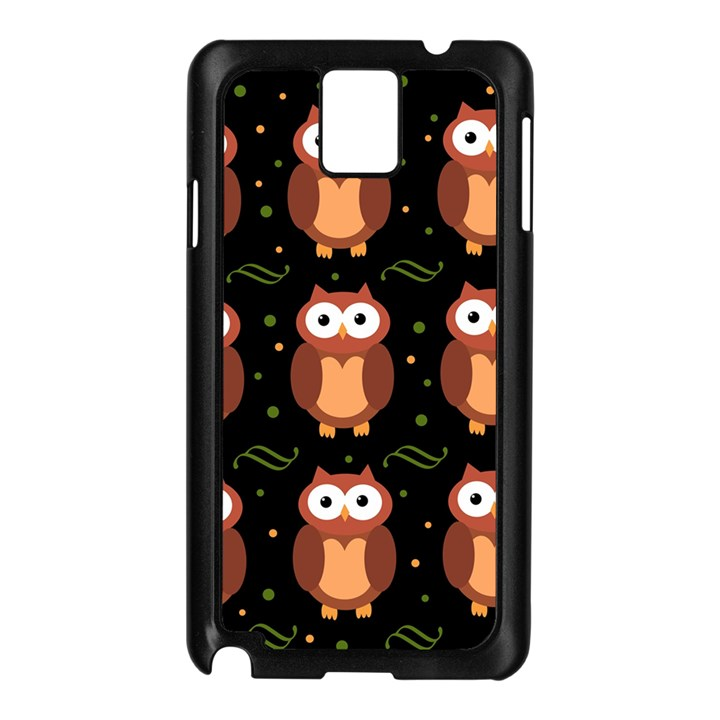 Halloween brown owls  Samsung Galaxy Note 3 N9005 Case (Black)